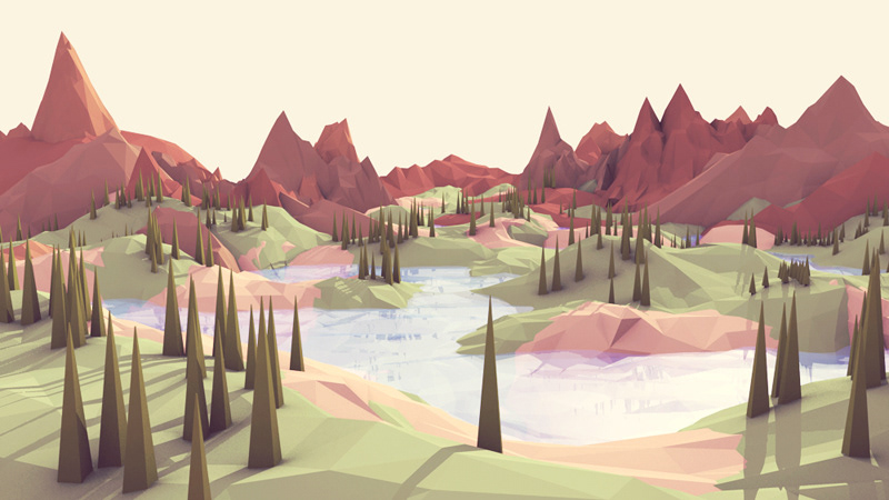 Valley Low Poly Art