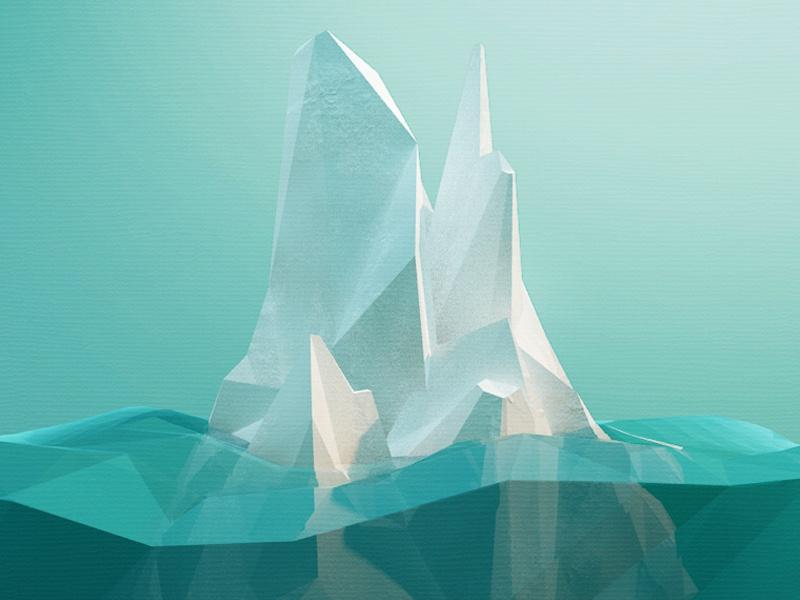 Iceberg Low Poly Art
