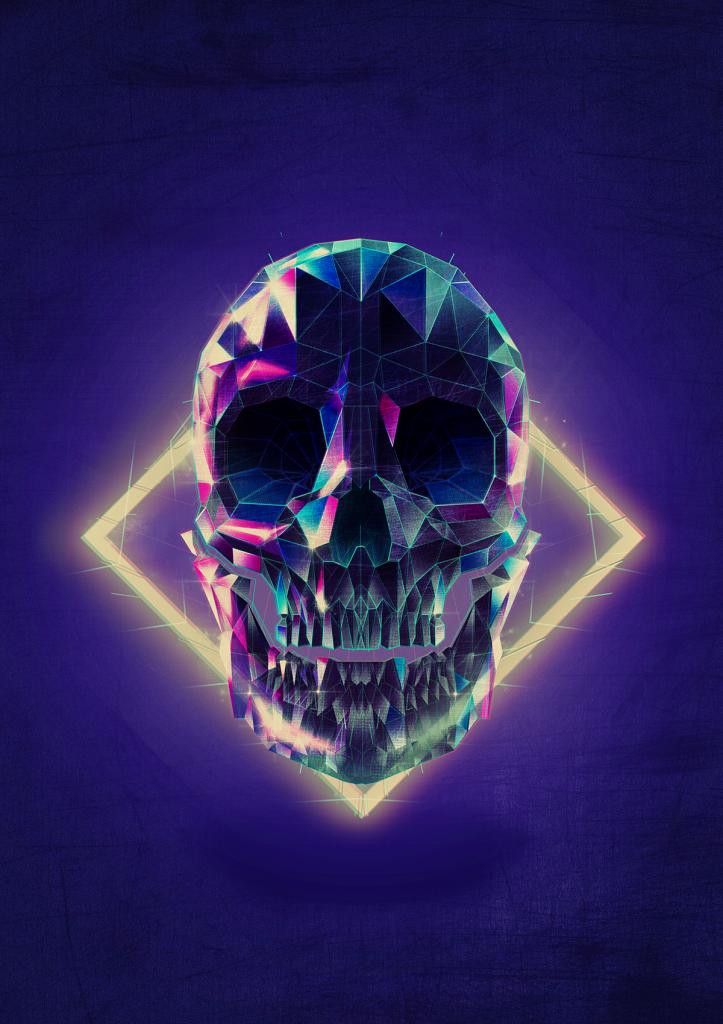 skeleton low poly art