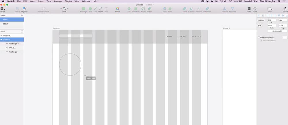 intro web design sketch video