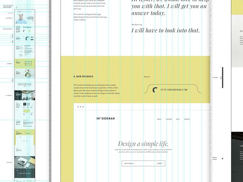 Vertical Branding Presentation Design inspiration