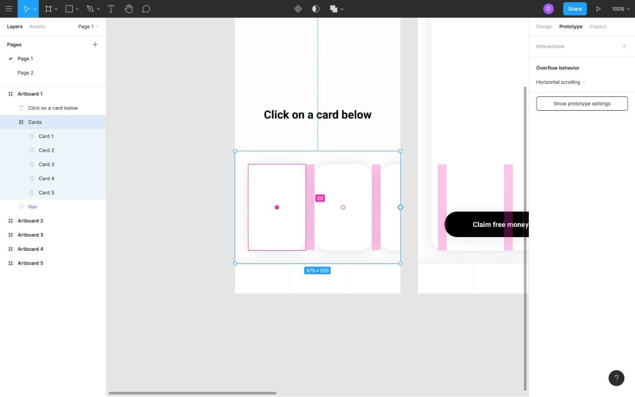 Adjusting the spacing in Figma Frames