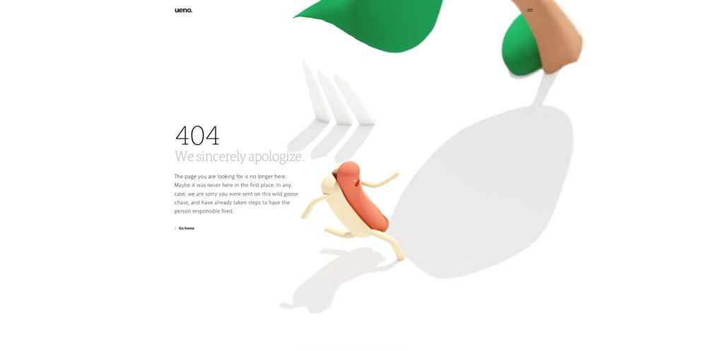 404 web page design Ueno