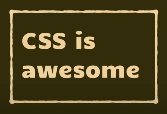 The words 'CSS is awesome' where the words fit their containing box.