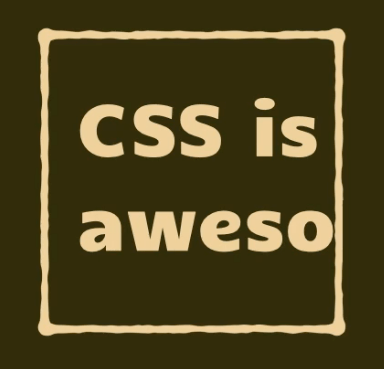 The words 'CSS is awesome' where the word 'awesome' is truncated fit their containing box.