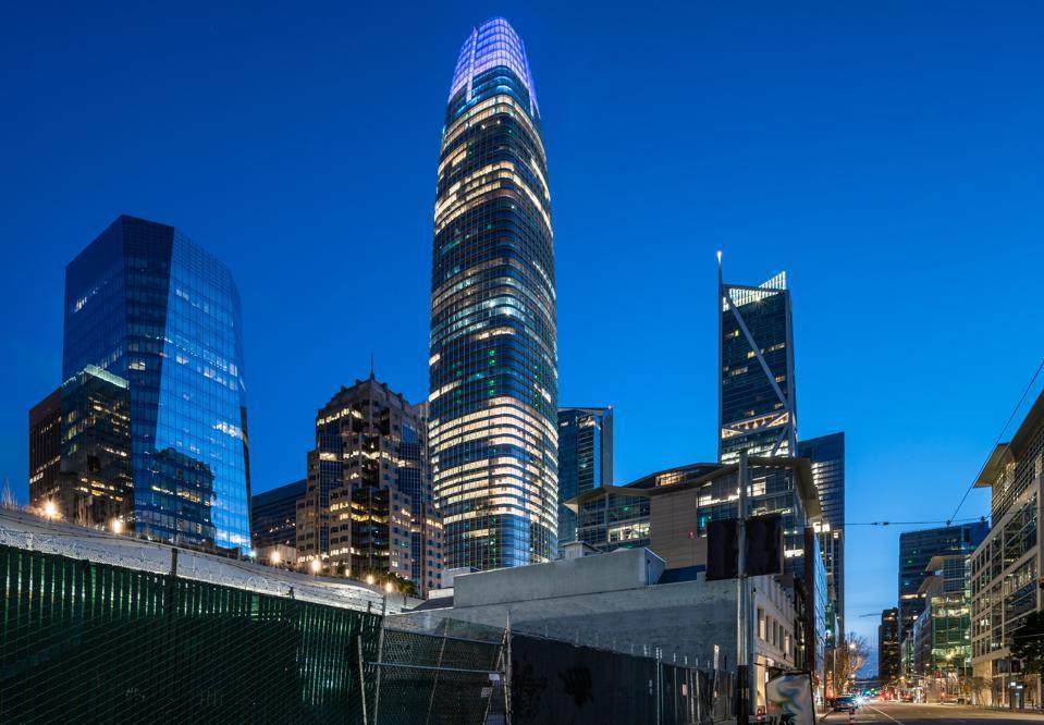 Howard Street View of Salesforce Tower - San Francisco