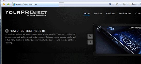 My PROject Pt.2: PSD To HTML