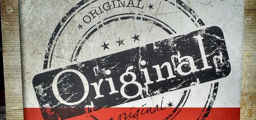 "Sign that says ""Original"""