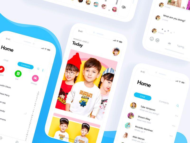 Kids Event App iOS 11 App Design
