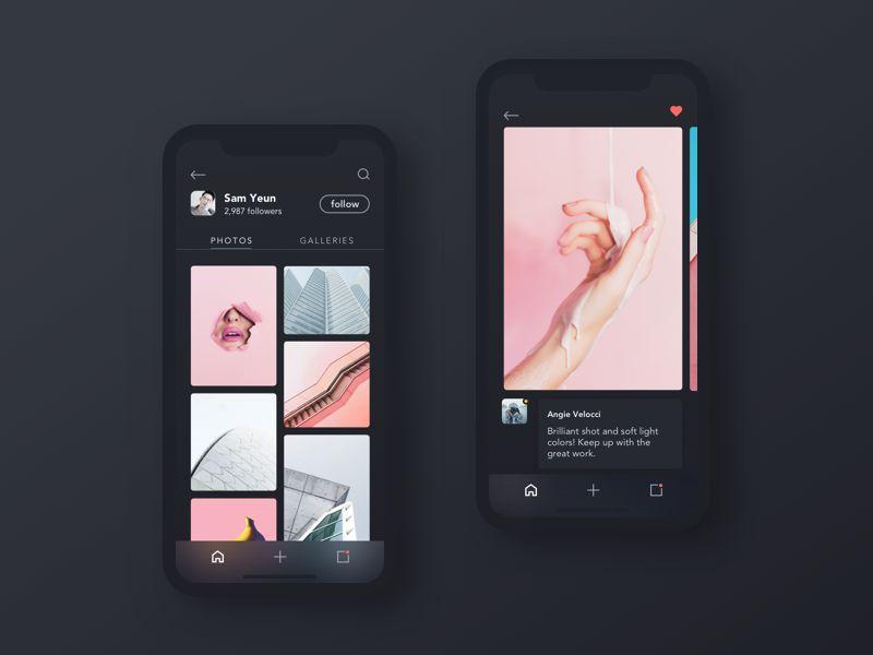 User Profile iOS 11 App Design