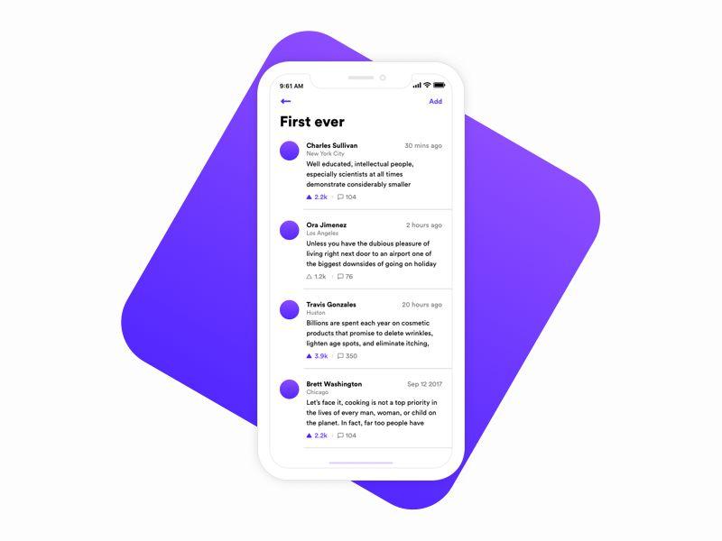 Text Vote iOS 11 App Design