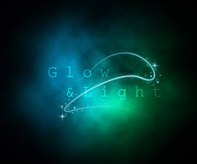 Glow photoshop abstract lighting effects tutorials