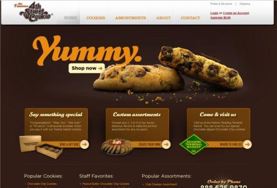 4th-Street-Cookie-15-Eye-Catching-Food-Beverage-Ecommerce-Website-Designs