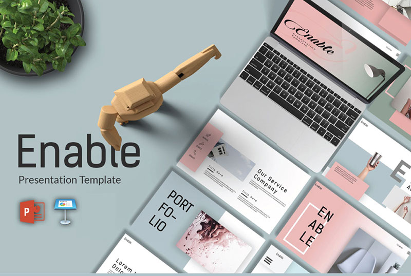 Enable-–-Simplistic-PowerPoint-Templates The best free minimalist Powerpoint templates