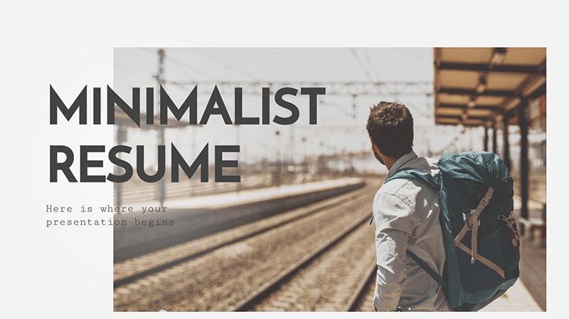 Resume-Presentation-–-PowerPoint-Styles The best free minimalist Powerpoint templates