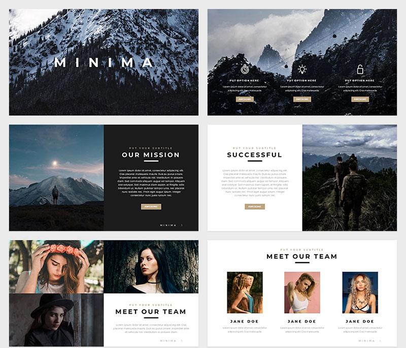 Minimas-Minimal-Templates The best free minimalist Powerpoint templates