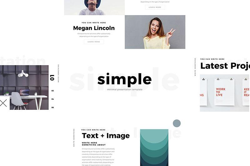 Simple-Minimal-Slides The best free minimalist Powerpoint templates