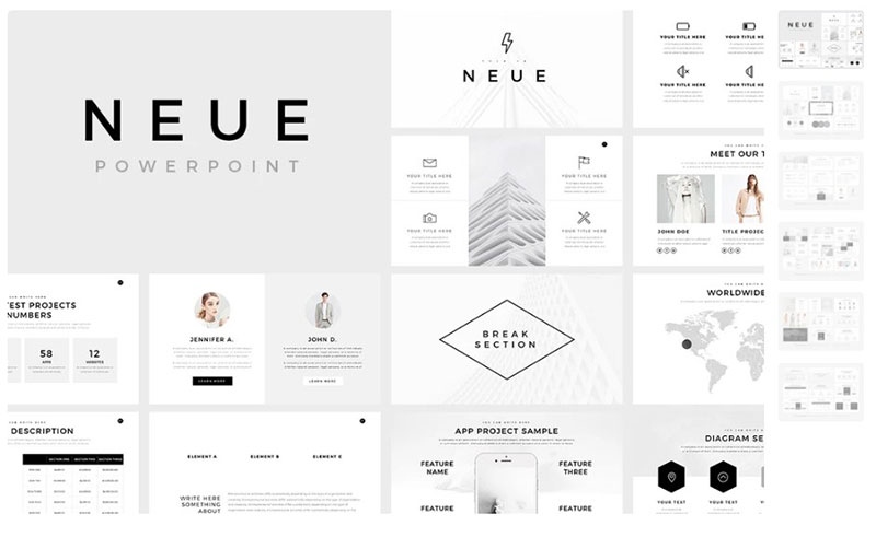 Neue-Free-Background-Templates The best free minimalist Powerpoint templates