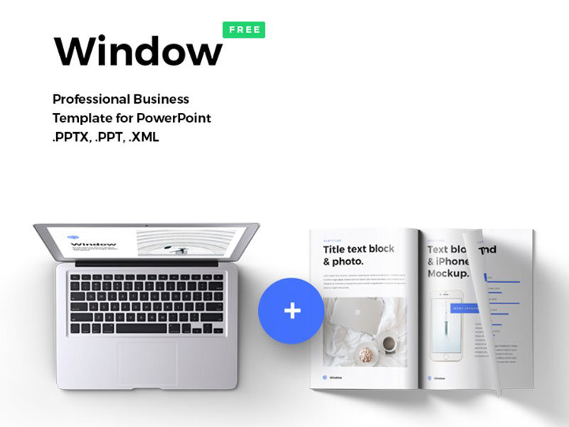 window The best free minimalist Powerpoint templates