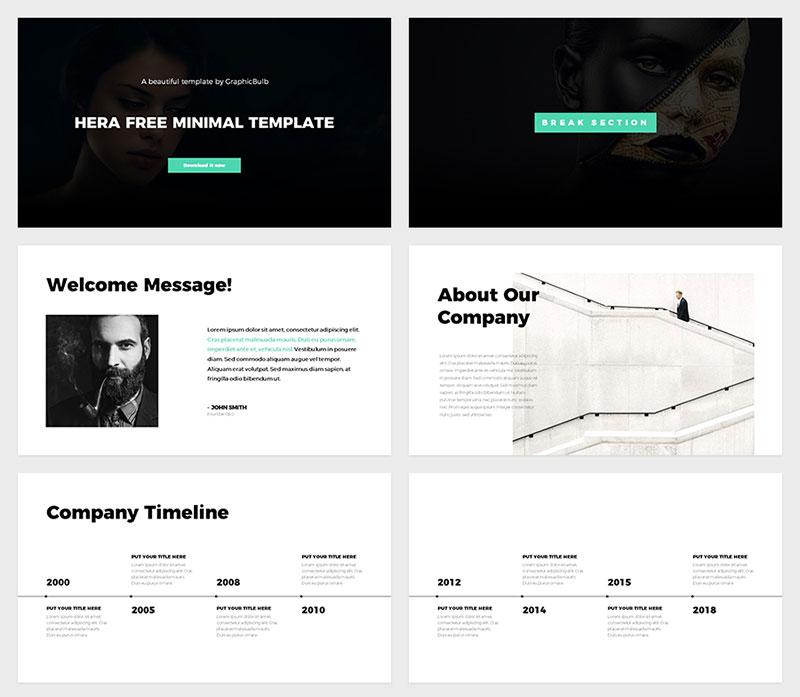Hera-Powerful-Graphic-Designs The best free minimalist Powerpoint templates