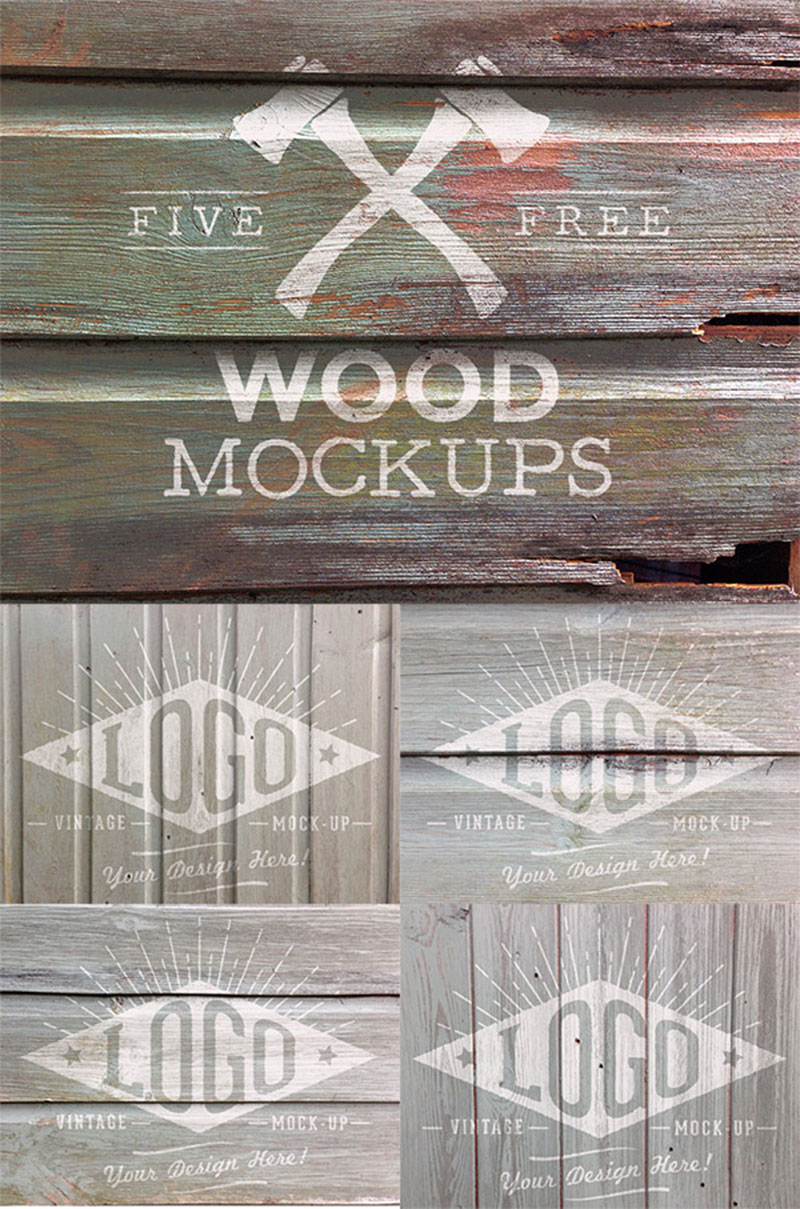 Weather-Wood-Mock-Up-Textures-Apply-logos-automatically Free wooden background images and textures for design projects