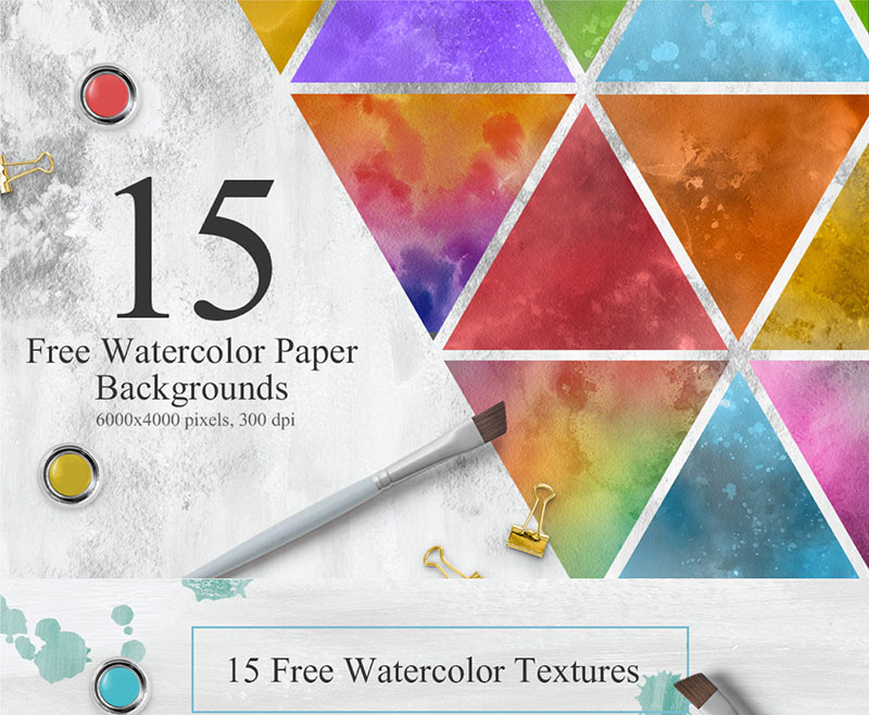 15-Free-Colorful-Watercolor-Textures-Hand-painted Purple background images and textures you can use in your work