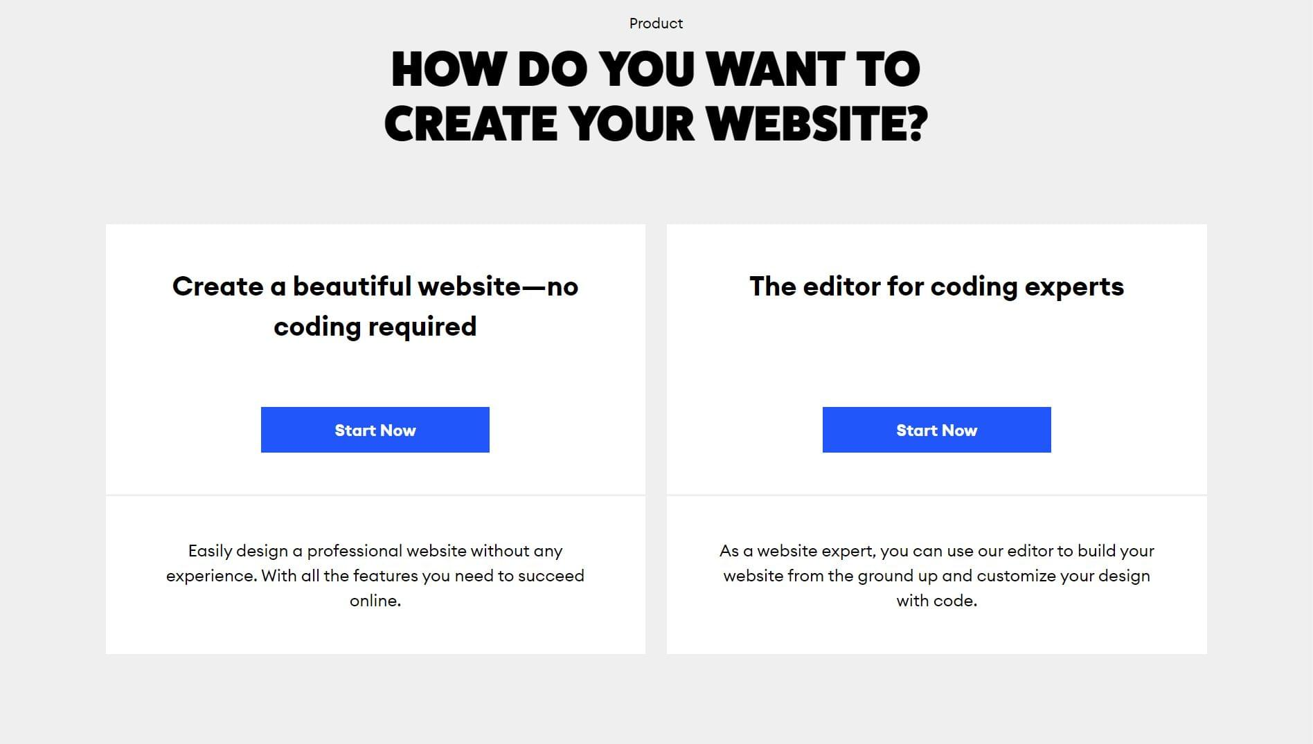 How do you want to create your website?